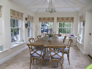 Roman Blinds Country Kitchen